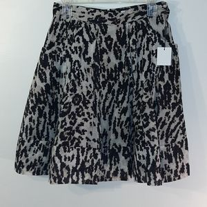 NWT Calvin Klein Animal Print Skirt